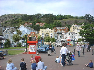 llandudno promenade seaside punch and judy show